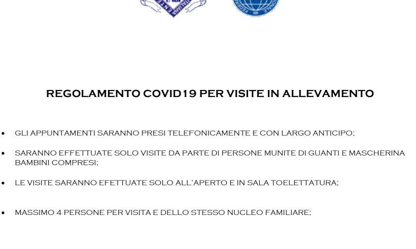 Regolamento Covid19 per le future visite